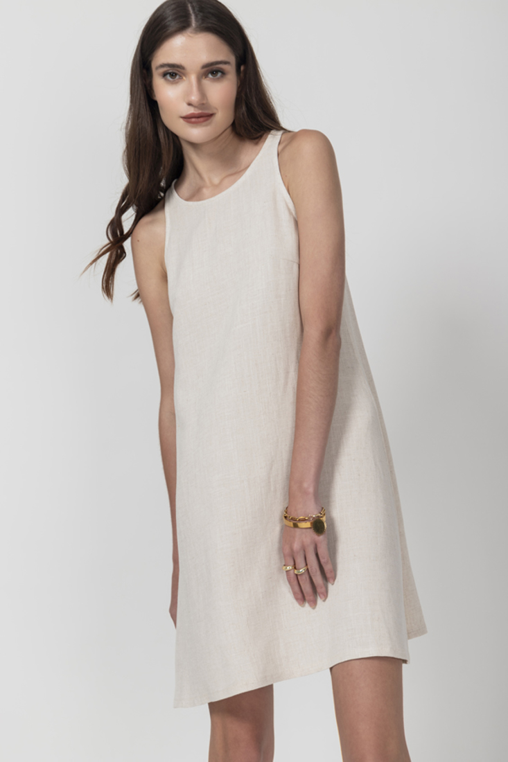 Picture of LINEN SLEEVELESS DRESS