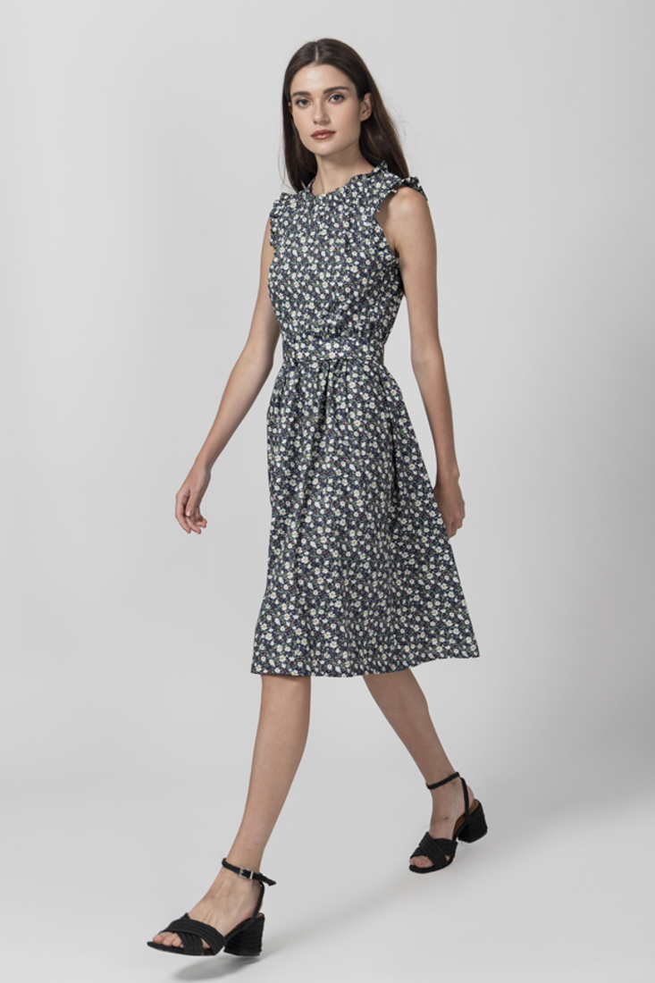 Picture of SLEEVELESS PRINTED DRESS (2)