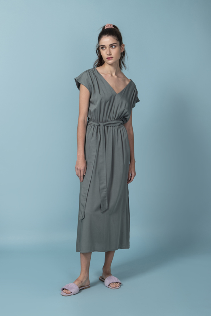 Picture of LONG DRESS WITH ELASTIC WAIST (2)