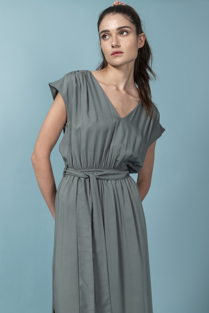 Picture of LONG DRESS WITH ELASTIC WAIST