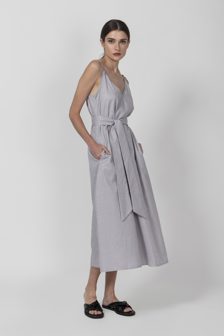 Picture of POPLINE PLAID DRESS