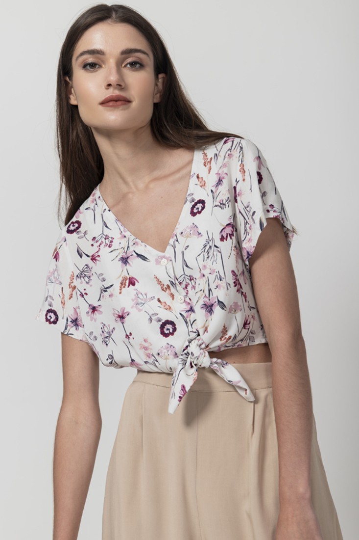 Picture of FLORAL PRINT CROP TOP