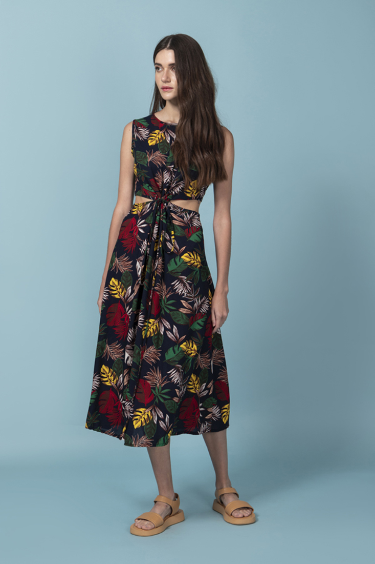 Picture of CUT-OUT PRINTED DRESS (2)