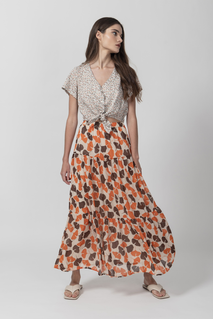 Picture of MAXI PRINTED SKIRT