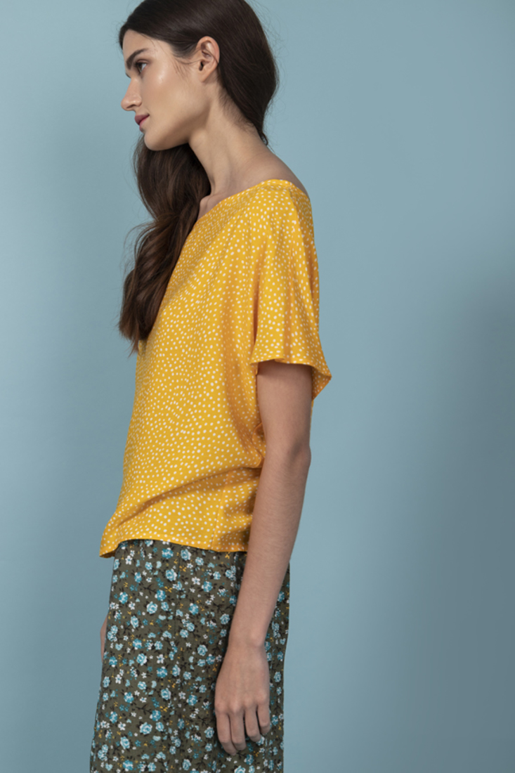 Picture of POLKA DOT OVERSIZED BLOUSE