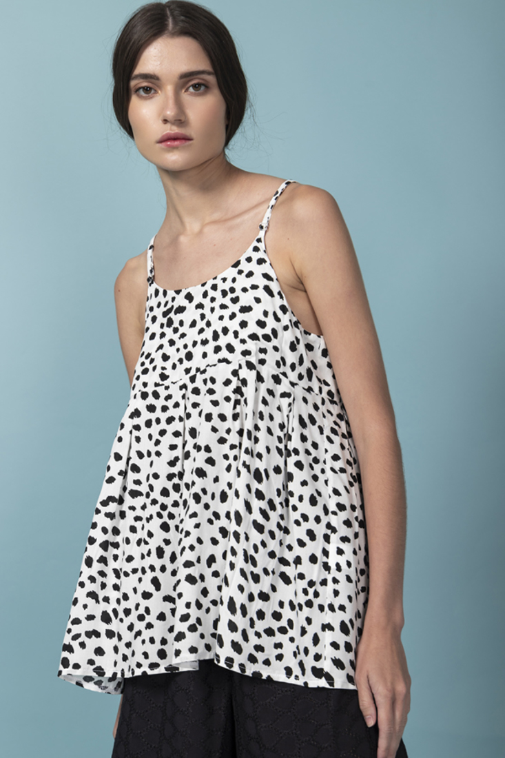 Picture of POLKA DOT SLEEVELESS TOP