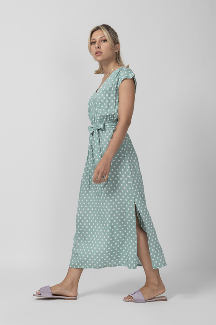 Picture of POLKA DOT LONG DRESS WITH ELASTIC WAIST (2)