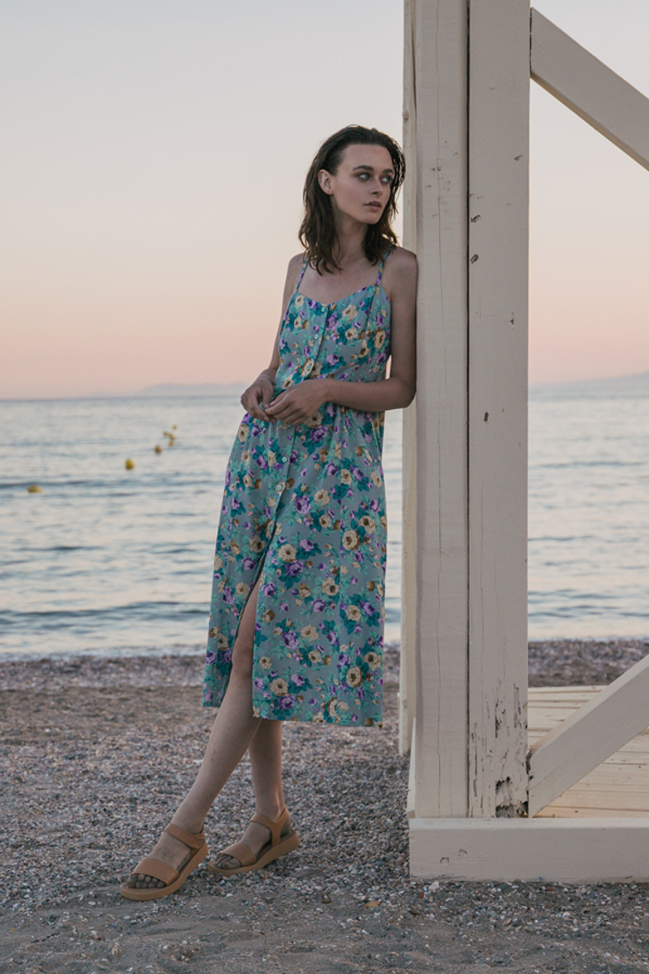 Picture of MIDI PRINTED SHIRT DRESS