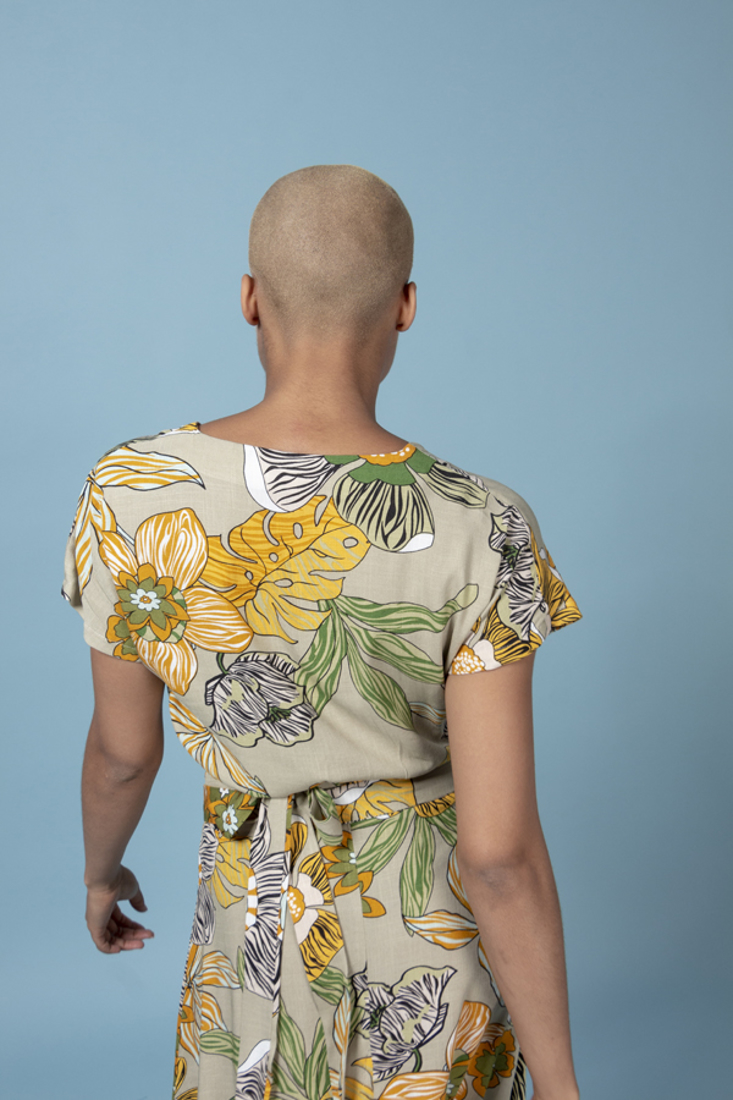 Picture of WRAP PRINTED TOP