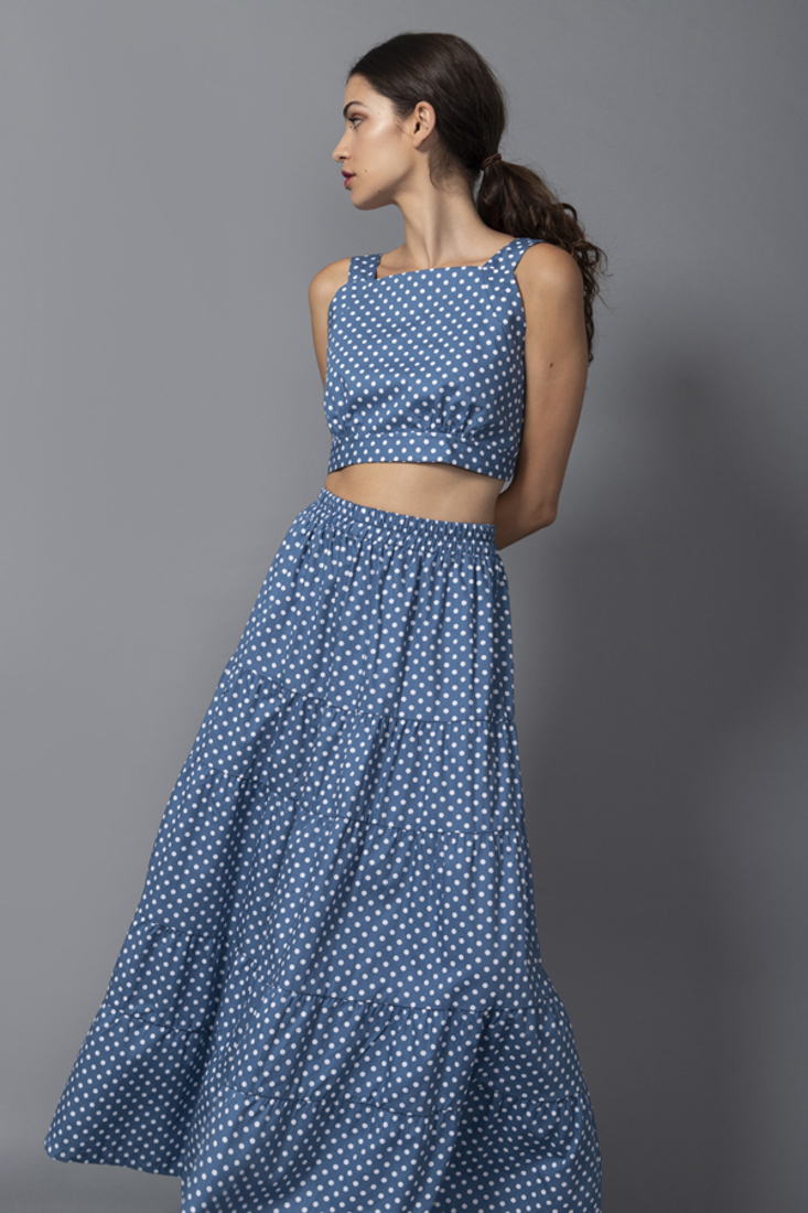 Picture of POLKA DOT CROP TOP (2)
