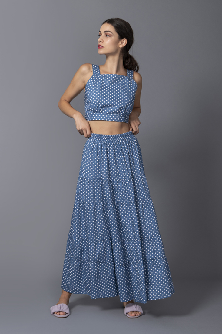 Picture of POLKA DOT CROP TOP