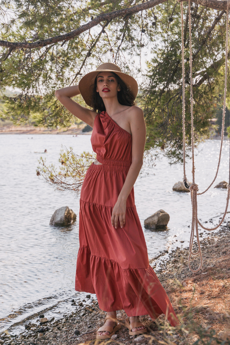 Picture of CUT-OUT LONG DRESS (2)