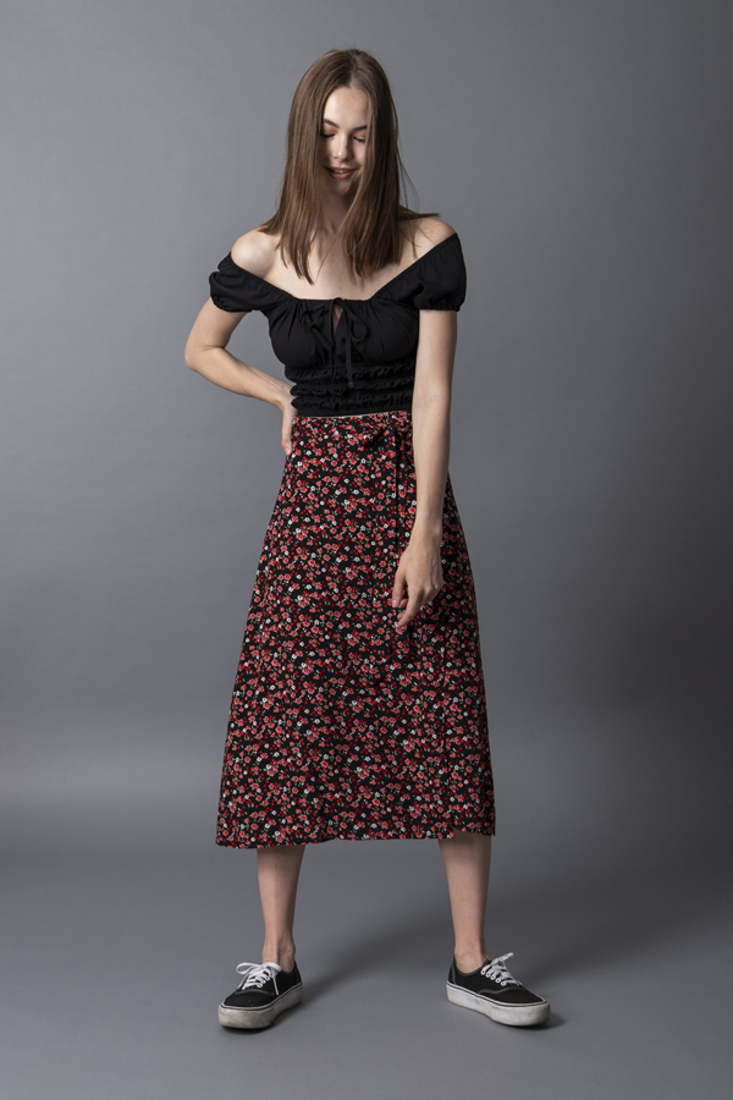 Picture of WRAP PRINTED SKIRT