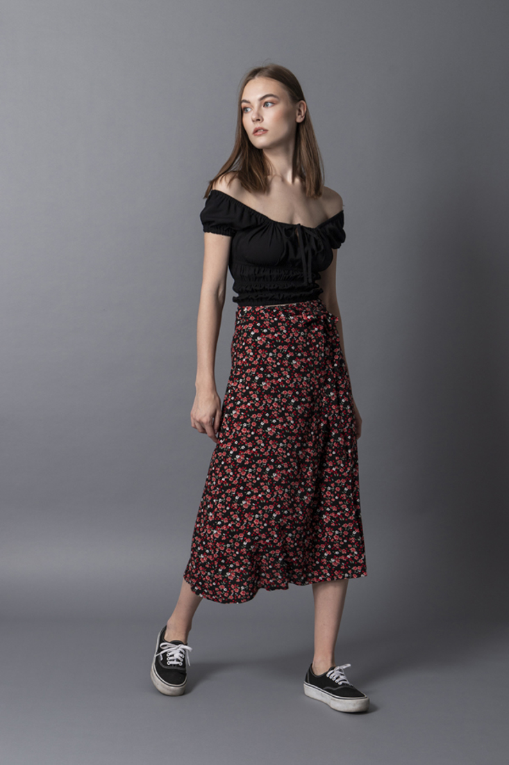 Picture of WRAP PRINTED SKIRT (2)