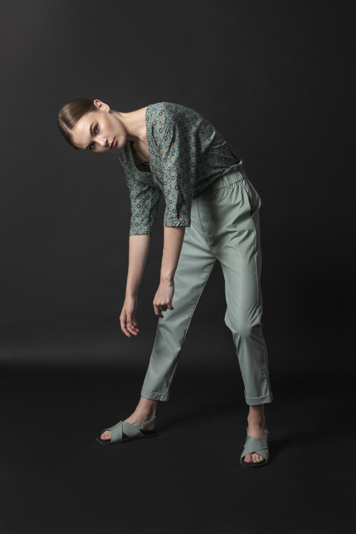 Picture of LEATHER EFFECT PANTS