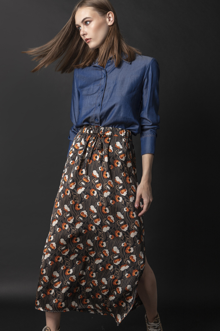 Picture of MIDI PRINTED SKIRT