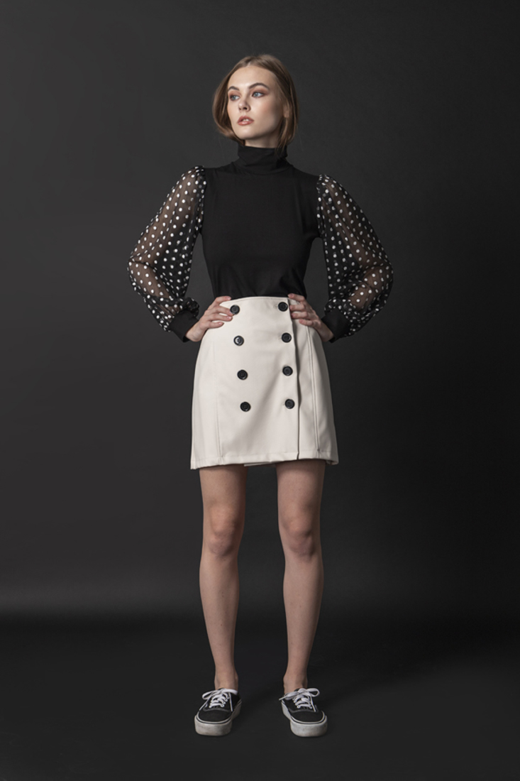 Picture of FAUX LEATHER MINI SKIRT