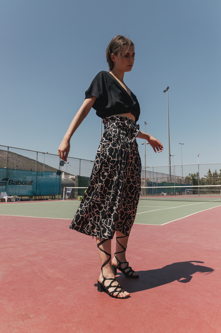 Picture of MIDI PRINTED SKIRT WITH PLEATS (2)