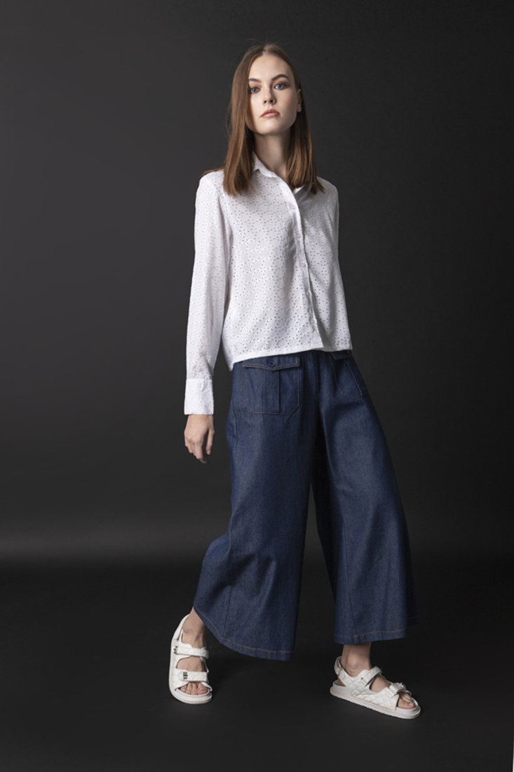 Picture of DENIM CROPPED TROUSERS
