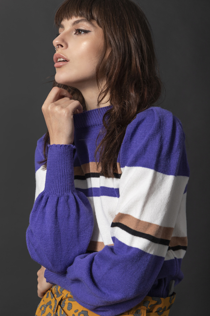 Picture of STRIPED KNIT SWEATER