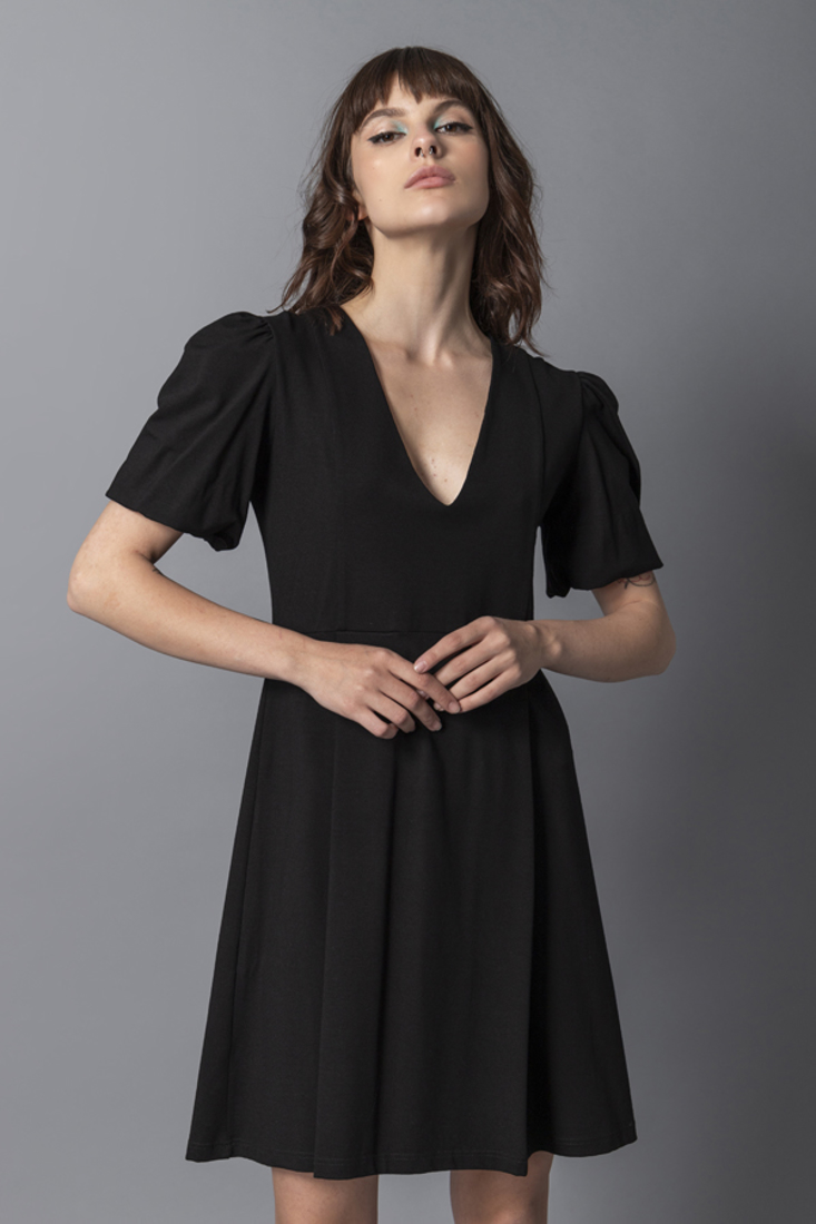 Picture of MINI DRESS WITH PUFFED SLEEVES