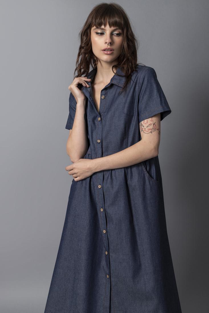 Picture of DENIM SHIRT DRESS