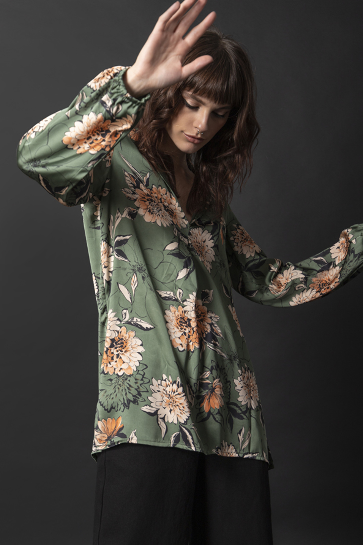 Picture of SATIN PRINTED TOP