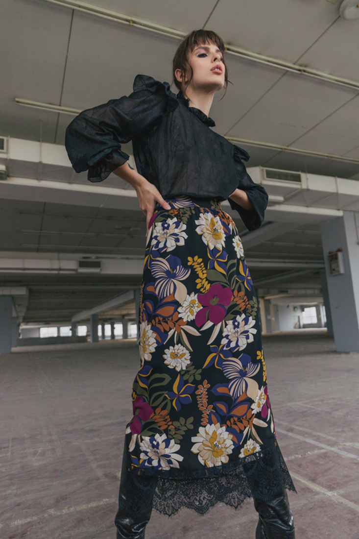 Picture of LONG PRINTED SKIRT