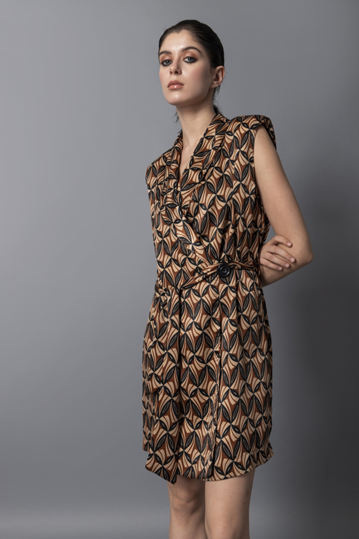 Picture of WRAP PRINTED DRESS