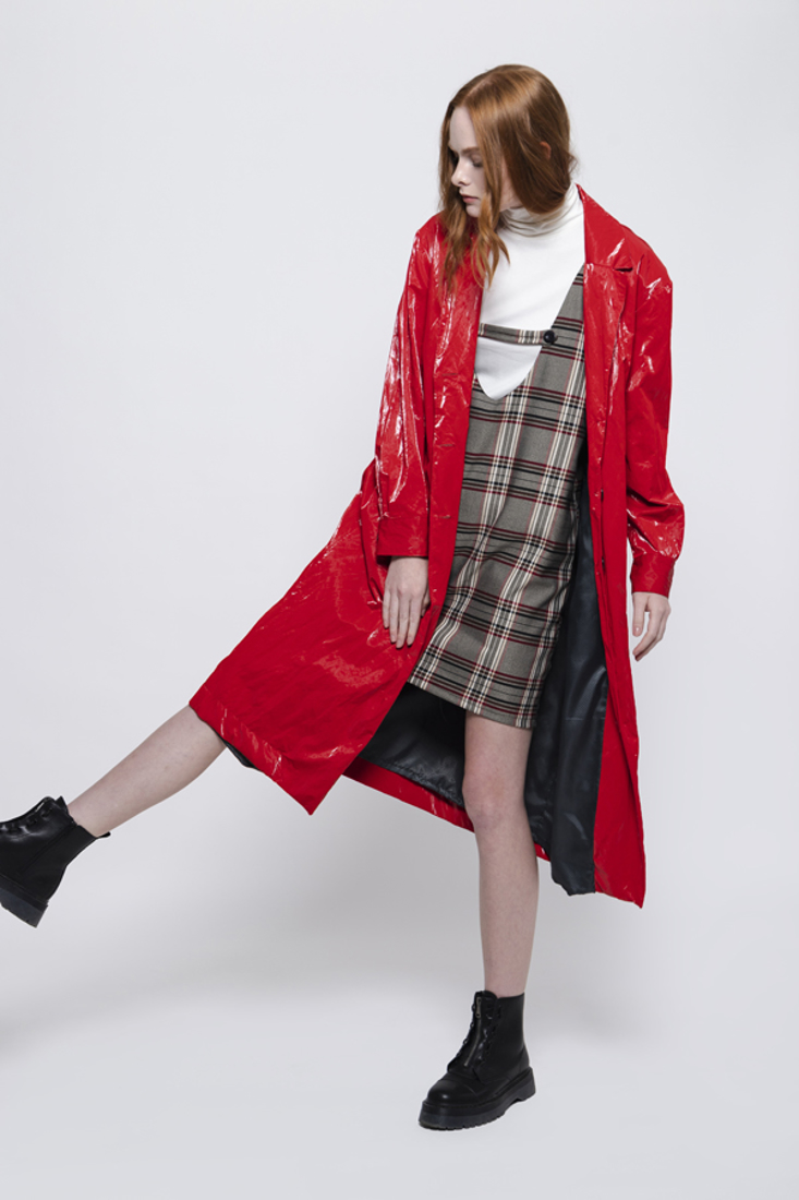 Picture of FAUX LEATHER TRENCH COAT