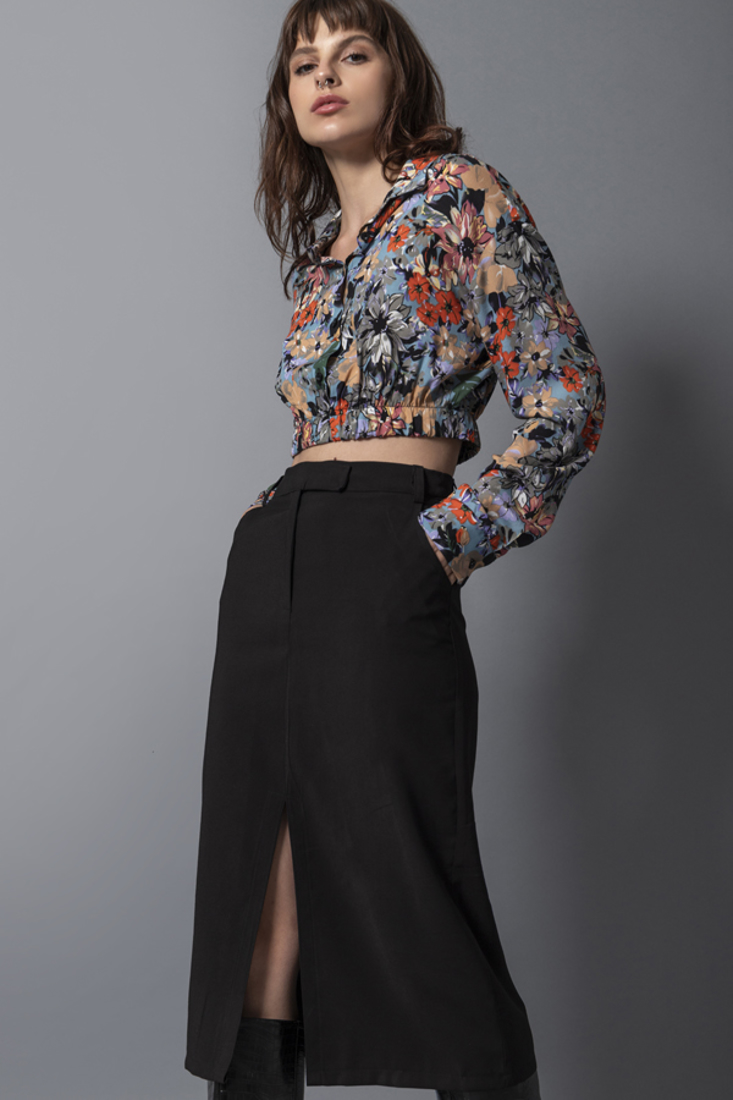 Picture of PENCIL MIDI SKIRT