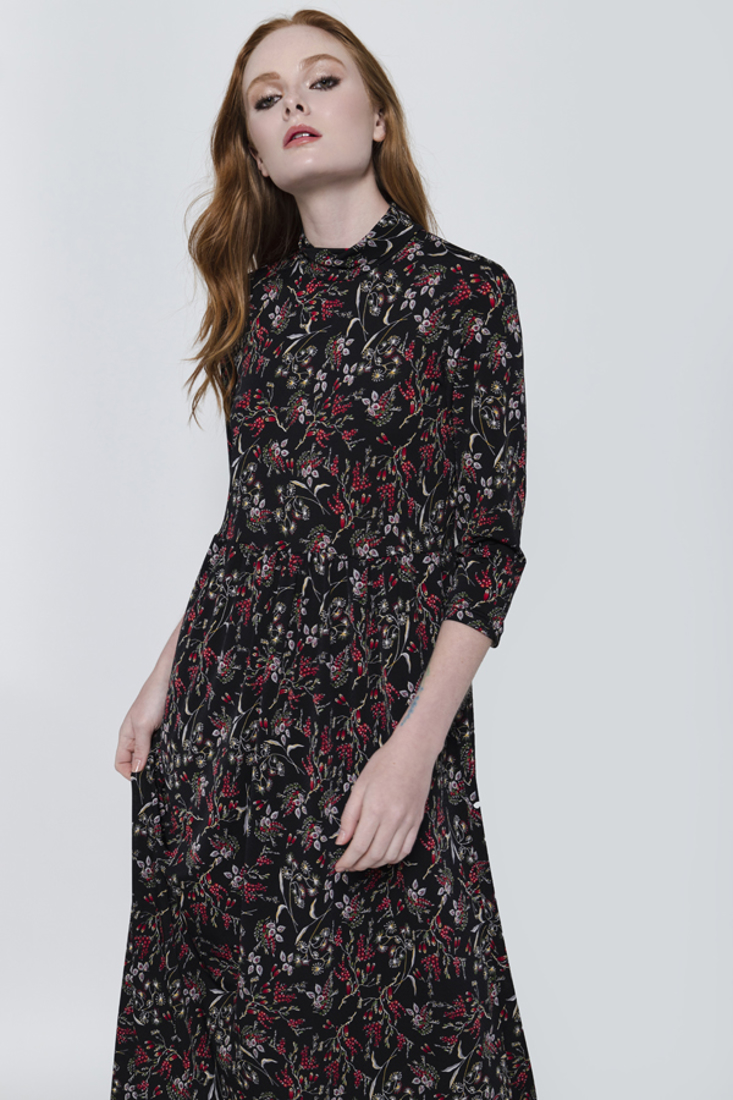 Picture of FLORAL PRINT LONG DRESS