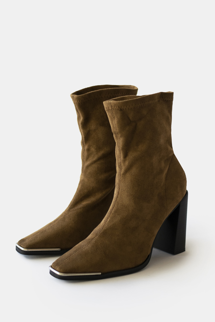 Picture of SUEDE HEELED ANKLE BOOTS