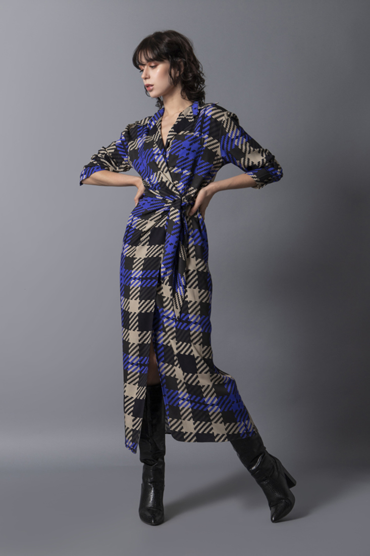 Picture of PLAID WRAP DRESS (2)