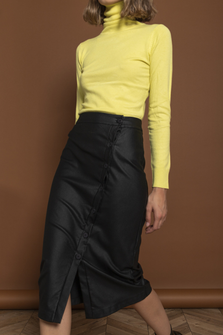 Picture of FAUX LEATHER MIDI SKIRT (2)