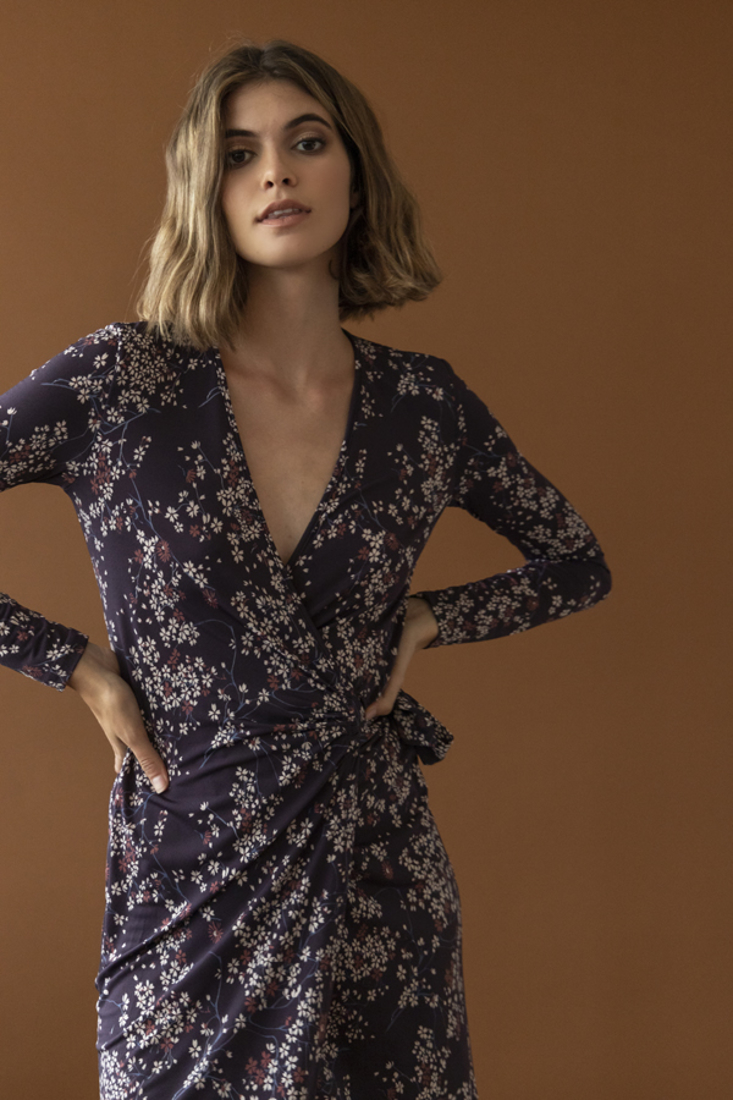 Picture of WRAP PRINTED DRESS (2)